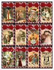 12 Christmas Candy Cane Victorian Vintage Hang Tags Scrapbooking 13