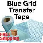 1 roll 12x5 Clear Transfer Paper Tape w blue Grid vinyl crafts BEST SELLER