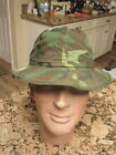 VIETNAM WAR TIME SEAL REVERSIBLE POPLIN ERDL/OD CAMO/BOONIE/DAISY MAE HAT SIZE 7