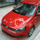 1pcs Cute Hello Kitty Cartoon Car Motors Hood Vinyl Decal Sticker New Pink Heart