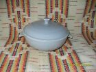 VINTAGE 1950's GRAY COVERED CASSEROLE & LID- FIESTAWARE                      R26