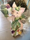 Fitz and Floyd Percy the Pig Figurine 11 3/4