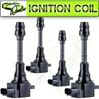 4 New Ignition Coil Pack For Nissan for Altima Sentra 2002 2006 L4 25L UF350