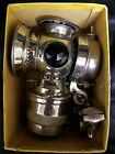 RARE IN BOX BADGER BRASS MODEL SOLAR NICKEL BICYCLE LIGHT CYCLE CARBIDE GAS LAMP