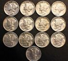 High Grade Mercury Dimes-Lot of 13-Please check out photos