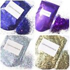 CHUNKY Glitter bags Nail Art Cosmetic Face Paints Craft Festival 10 50 100g