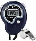 NEW Paxcoo Digital Referee Sports Stopwatch With Stainless Steel Loud Whistle