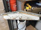 c1880 Victorian window header pediment - old white paint 40.5