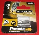 PH3 Torsion Screwdriver Bit Phillips 3 Piranha Black and Decker X62022 Pack of 2