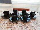 Franciscan Madeira 6 cups and 6 saucers stoneware coffee EVC