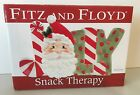 Fitz & Floyd Jolly Snack Therapy Tray Santa
