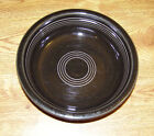 Fiesta HLC Black Cereal Soup Bowl 6 7/8 x 1 3/4 - Good Condition
