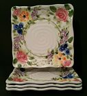 Tabletops Unlimited MARIAM'S GARDEN Sqaure Dinner Plates 11