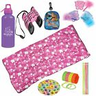 American Trail Girls Butterfly  Flowers Sleeping Bag 68 Piece Camping Kids Pink