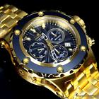 Invicta Subaqua Specialty Swiss Gold Plated Steel Chronograph 52mm Watch New