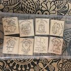 Discontinued Stampin Up Nice  Easy Notes 1996 Rubber Stamp Set