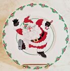 FITZ & FLOYD CHINA YULETIDE HOLIDAY 8 1/2