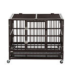 XL 37 Large Dog Cage Pet Steel Crate Heavy Duty Kennel Playpen Folding W Tray