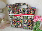 NEW Sweet QUILTED Shoulder BAG made w MARY ENGELBREIT LOVE HOME TEACUP