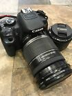 Canon EOS Rebel T4i with Canon EFS 18 200mm Canon 50mm lenses