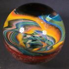 Beautiful Large 158 Handmade Art Glass Marble Rainbow Vortex Micro Dot BAM 17