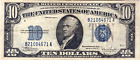 1934 C Silver Certificate US Note, Currency, Paper Money 10 Ten Dollars