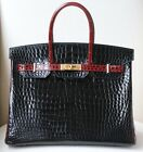 HERMES 35CM SPECIAL EDITION BICOLOUR POROSUS BRUSHED GOLD H W BIRKIN BAG