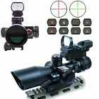 25 10X40 Tactical Rifle Scope with Red Laser  Green Red Dot Sight with Weaver