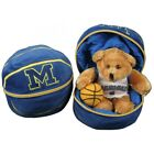 Michigan Wolverines Stuffed Bear in a Ball Basketball