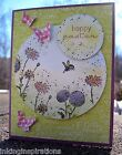Handmade Stampin Up HAPPY EASTER greeting card kit 4 cards envelopes BUTTERFLIES