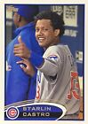 Starlin Castro - 2012 Topps SP Photo Variation (In Dugout) + Base Card #270