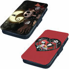 Nightmare Before Christmas Tim Printed Faux Leather Flip Phone Cover Case #1