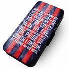 Chant- A Young Boy - Grunge Blue Red Stripe Faux Leather Flip Phone Case CP #2