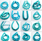 15 Strand Blue Turquoise Gemstone Spacer Loose Beads Charm Findings