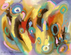 ABSTRACT EXPRESSIONIST MODERNISM original colorful contemporary modern art