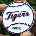 PREMIUM MLB Detroit Tigers Poker Card Protector Collectors Coin Golf Marker NEW