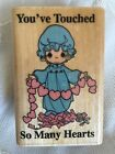 1993 Vtg Precious Moments You Have Touched So Many Hearts Rubber Stamp 5549 New