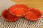 SET OF 3 FIESTA PERSIMMON (CONTEMPORARY) CEREAL BOWLS*PERSIMMON*NICE!BRIGHT!