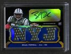 2011 Triple Threads Football Blue Autograph Relic #106 Bilal Powell No 81 of 99