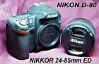 NIKON DSLR D 80 camera with NIKKOR 24 85mm lens PLUS MANY EXTRAS