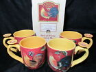 Rare SUSAN WINGET CRACKER BARREL MORNING SONG MUG SET ~Rooster Flower Coffee Tea