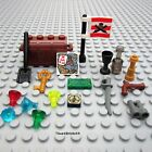 NEW LEGO Minifigure Pirate Castle Treasure Chest – Map Flag Gems Weapon Goblet