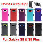 For Samsung Galaxy S8 S8 Plus+ Defender Rugged Case Cover Clip Fits Otterbox