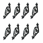 8 Cast Iron Antique-Style Brackets Garden Braces Shelf Bracket Corbels Black