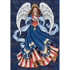 Dimensions Gold Petite Patriotic Angel Counted Cross Stitch Kit 5X7 18 Count