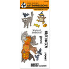Art Impressions 4786 Halloween Clear Stamp Set 7X4 Meow llween
