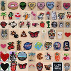 Embroidered Iron On Sew On Patches Badge Hat Fabric Applique Clothes Craft DIY
