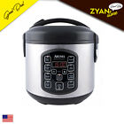 Aroma Professional Cool Touch 8-Cup Rice Cooker in Stainless Steel