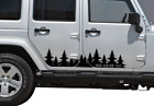 Forest tree side decal graphics w Your Custom Text door sticker Fits Jeep