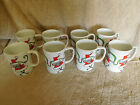 8 Fitz & Floyd Dancing Santa Cups Mugs Coffee/ hot Chocolate ~Neiman Marcus ~